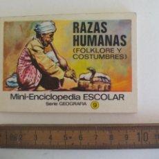 Libri di seconda mano: MINI-ENCICLOPEDIA ESCOLAR SERIE GEOGRAFIA EDITORIAL BRUGUERA 1972 Nº 9 RAZAS HUMANAS FOLKLORE Y COST. Lote 210458285