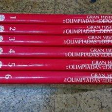 Enciclopedias de segunda mano: GRAN HISTORIA DE LAS OLIMPIADAS Y DE LOS DEPORTES, 6 TOMOS, COMPLETA. Lote 210964202