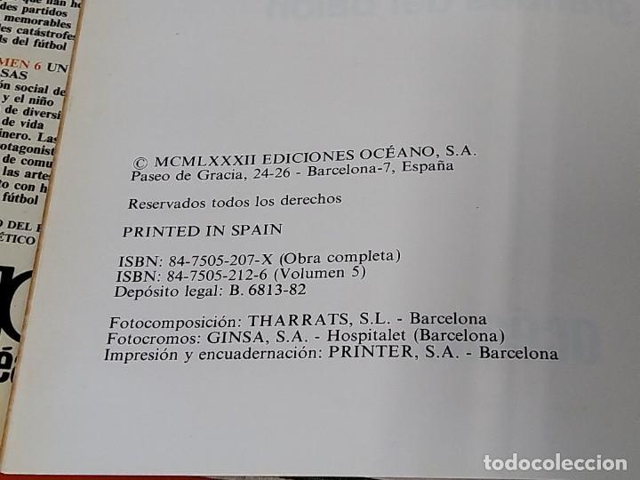 Enciclopedias de segunda mano: ENCICLOPEDIA MUNDIAL DEL FUTBOL - COMPLETA ( 6 TOMOS Y SUPLEMENTO) EDITORIAL OCÉANO,AÑO 1982..L1632 - Foto 29 - 212600222