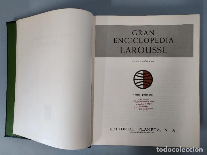 Enciclopedias de segunda mano: GRAN ENCICLOPEDIA LAROUSSE, COMPLETA (10 TOMOS + 1 SUPLEMENTO ) EDITORIAL PLANETA, AÑO 1977 ...L1725 - Foto 3 - 213229978