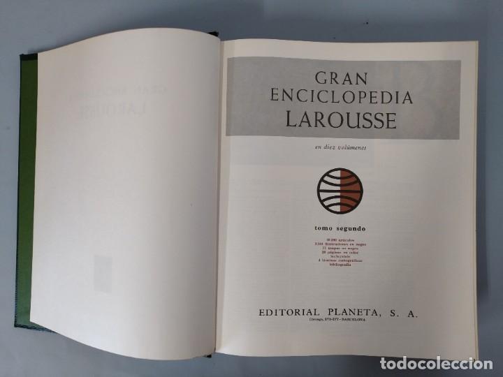Enciclopedias de segunda mano: GRAN ENCICLOPEDIA LAROUSSE, COMPLETA (10 TOMOS + 1 SUPLEMENTO ) EDITORIAL PLANETA, AÑO 1977 ...L1725 - Foto 8 - 213229978