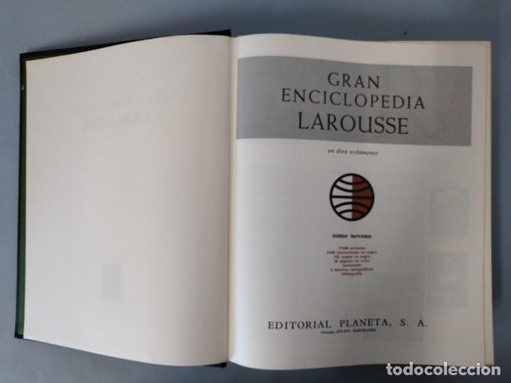 Enciclopedias de segunda mano: GRAN ENCICLOPEDIA LAROUSSE, COMPLETA (10 TOMOS + 1 SUPLEMENTO ) EDITORIAL PLANETA, AÑO 1977 ...L1725 - Foto 43 - 213229978