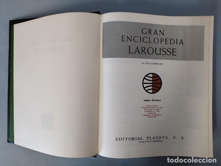 Enciclopedias de segunda mano: GRAN ENCICLOPEDIA LAROUSSE, COMPLETA (10 TOMOS + 1 SUPLEMENTO ) EDITORIAL PLANETA, AÑO 1977 ...L1725 - Foto 48 - 213229978