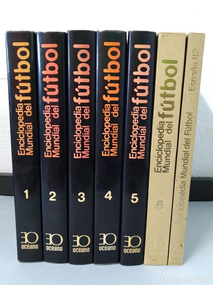 Enciclopedias de segunda mano: ENCICLOPEDIA MUNDIAL DEL FUTBOL - COMPLETA ( 6 TOMOS Y SUPLEMENTO) EDITORIAL OCÉANO,AÑO 1982..L1632 - Foto 2 - 212600222