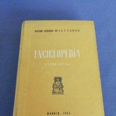 Enciclopedias de segunda mano: ENCICLOPEDIA ELEMENTAL. SECCION GEMRNINA DE F. E. T. Y J. O. N. S. MADRID 1962. Lote 213802521