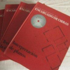 Libri di seconda mano: NUEVA ENCICLOPEDIA DEL ENCARGADO DE OBRAS. 4 TOMOS. Lote 217708488