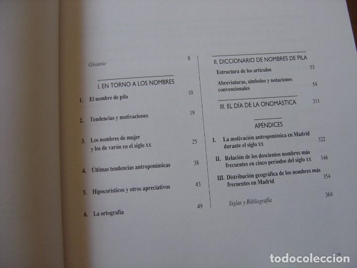 Enciclopedias de segunda mano: LOS NOMBRES DE PILA ESPAÑOLES. C. GARCÍA GALLARÍN. EDICIONES DEL PRADO. 1ª EDICIÓN 1998. - Foto 5 - 218013061