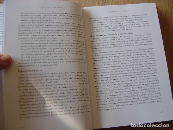 Enciclopedias de segunda mano: LOS NOMBRES DE PILA ESPAÑOLES. C. GARCÍA GALLARÍN. EDICIONES DEL PRADO. 1ª EDICIÓN 1998. - Foto 6 - 218013061