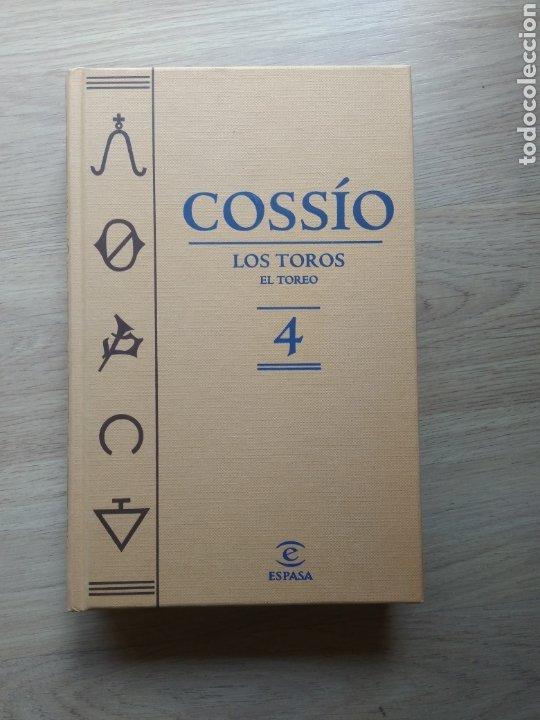 LIBRO COSSÍO, LOS TOROS. EL TOREO TOMO Nº 4 EDITORIAL ESPASA 2007 (Libros de Segunda Mano - Enciclopedias)