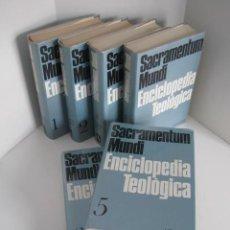 Enciclopedias de segunda mano: SAGRAMENTUM MUNDI. ENCICLOPEDIA TEOLÓGICA. ED. HERDER. 6 TOMOS, COMPLETA. 1971. DIR. KARL RAHNER.. Lote 218613497