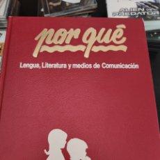 Enciclopedias de segunda mano: ENCICLOPEDIA BÁSICA PORQUE 8 TOMOS. Lote 218792267