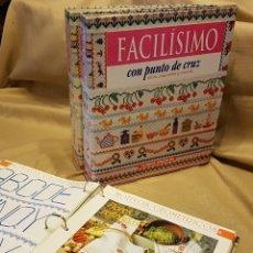 Enciclopedias de segunda mano: COLECCION FASCICULOS - 3 CARPETAS FACILISIMO CON PUNTO DE CRUZ. Lote 219130196