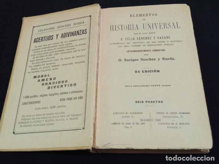 Enciclopedias de segunda mano: HISTORIA UNIVERSAL CALLEJA 1926 - Foto 2 - 219525155