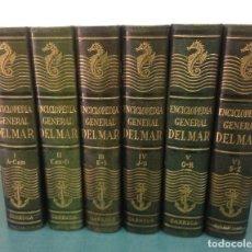 Libri di seconda mano: ENCICLOPEDIA GENERAL DEL MAR, 6 TOMOS, COMPLETA, 1957. Lote 219814882
