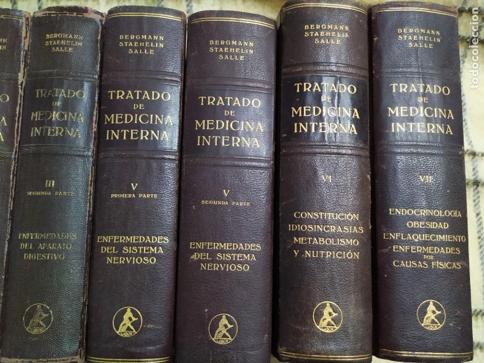 Enciclopedias de segunda mano: 1942. Lote 9 libros Tratado de medicina interna. Editorial Labor. - Foto 4 - 221499721