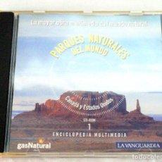 Enciclopedias de segunda mano: CD-ROM PARQUES NATURALES, Nº 1 CANADÁ Y ESTADOS UNIDOS, ENCICLOPEDIA MULTIMEDIA, 2000. Lote 221560695
