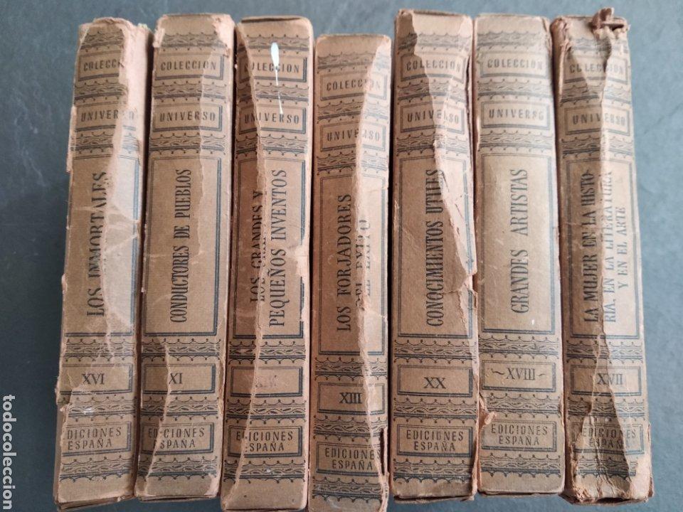 Enciclopedias de segunda mano: Lote 7 tomos Colección Universo-Ediciones España. - Foto 2 - 222114508