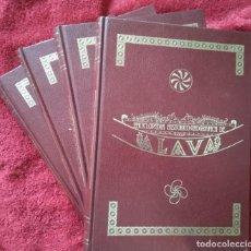 Enciclopedias de segunda mano: ENCICLOPEDIA HISTÓRICO-GEOGRAFICA DE ÁLAVA -- 4 TOMOS COMPLETA. Lote 222148383