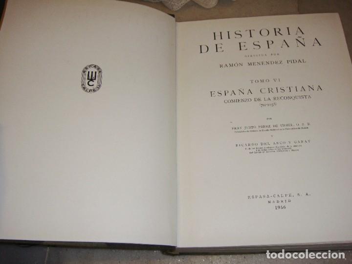 Enciclopedias de segunda mano: HISTORIA DE ESPAÑA. TOMO II. RAMON MENENDEZ PIDAL. ESPAÑA CRISTIANA. 1954. ESPASA CALPE - Foto 3 - 222435863