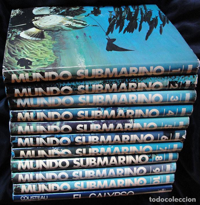 Enciclopedias de segunda mano: ENCICLOPEDIA MUNDO SUBMARINO + EL CALYPSO - JACQUES COUSTEAU - - Foto 2 - 222606343