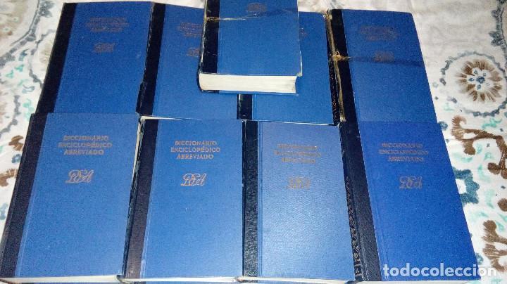 DICCIONARIO ENCICLOPÉDICO ABREVIADO, ENCICLOPEDIA ESPASA CALPE, COMPLETA, NUEVE VOLÚMENES (Libros de Segunda Mano - Enciclopedias)