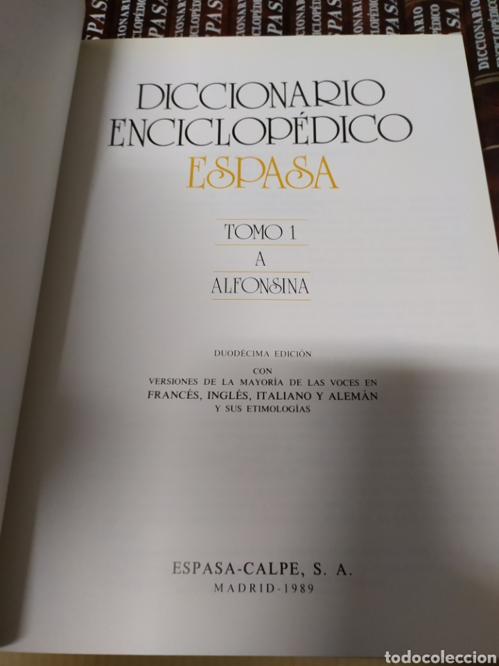 Enciclopedias de segunda mano: Diccionario Enciclopédico Ilustrado Espasa Calpe 24 tomos completo - Foto 4 - 222645691