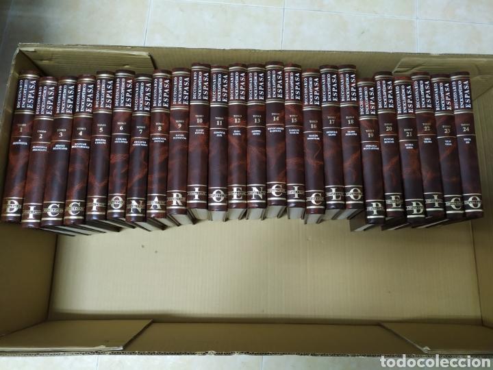 DICCIONARIO ENCICLOPÉDICO ILUSTRADO ESPASA CALPE 24 TOMOS COMPLETO (Libros de Segunda Mano - Enciclopedias)