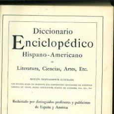 Enciclopedias de segunda mano: DICCIONARIO ENCICLOPÉDICO HISPANO-AMERICANODE LITERATURA, CIENCIAS, ARTES, ETC. TOMO II. Lote 228311505