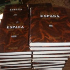 Enciclopedias de segunda mano: DICCIONARIO ENCICLOPEDICO ESPASA CALPE COMPLETA , EN 24 TOMOS Y 2 APENDICES . AÑO 1990. Lote 229231925
