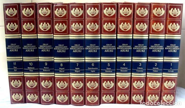 GRAN DICCIONARIO ENCICLOPÉDICO ASURI - COMPLETA 11 TOMOS - VER DESCRIPCIÓN Y FOTOS (Libros de Segunda Mano - Enciclopedias)