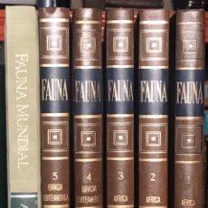 Enciclopedias de segunda mano: FELIX RODRÍGUEZ DE LA FUENTE 5 TOMOS + FAUNA MUNDIAL ANIMALES EN PELIGRO 1970. Lote 230556560