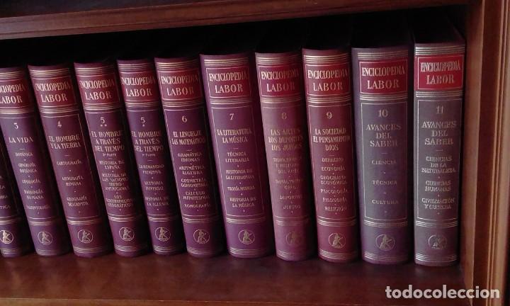 Enciclopedias de segunda mano: ENCICLOPEDIA LABOR - COMPLETA - 11 tomos en 12 volúmenes - 1955-1975 - Foto 2 - 235975350