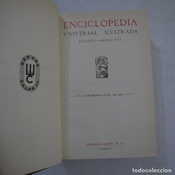 Enciclopedias de segunda mano: ENCICLOPEDIA UNIVERSAL ILUSTRADA EUROPEO AMERICANA. SUPLEMENTO 1981-1982 - ESPASA-CALPE - Foto 6 - 236783435