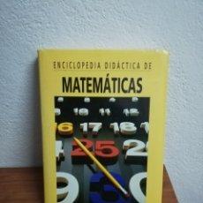 Enciclopedias de segunda mano: ENCICLOPEDIA DIDÁCTICA DE MATEMÁTICAS - OCÉANO 1999 SIN CD. Lote 242416450