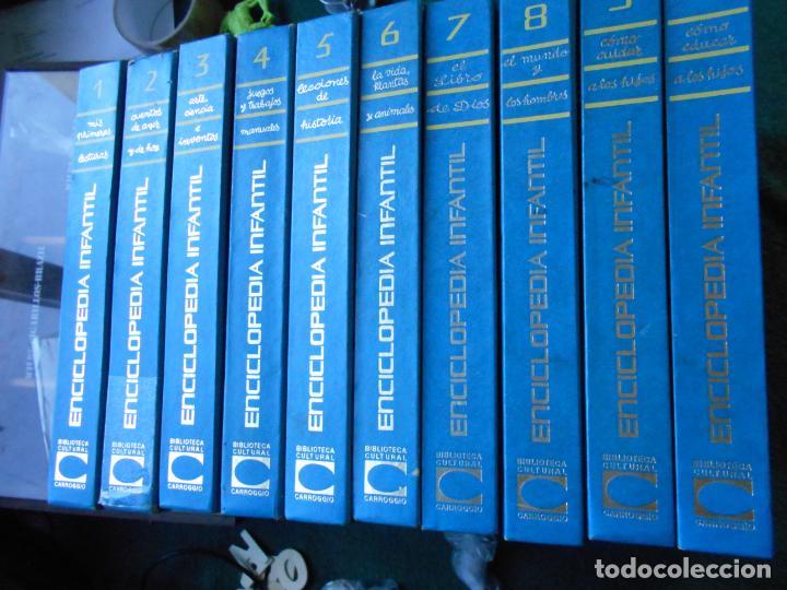 ENCICLOPEDIA INFANTIL BIBLIOTECA CULTURAL CARROGGIO 10 TOMOS (Libros de Segunda Mano - Enciclopedias)