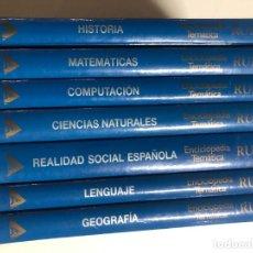 Enciclopedias de segunda mano: ENCICLOPEDIA TEMATICA RUEDA. EDICIONES NAUTA. 2003. COMPLETA 7 TOMOS. Lote 244454605