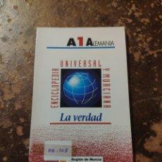 Enciclopedias de segunda mano: ENCICLOPEDIA UNIVERSAL Y MURCIANA N° 1: A -1- ALEMANIA (LA VERDAD) (REGIÓN DE MURCIA). Lote 246569660