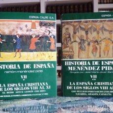 Enciclopedias de segunda mano: HISTORIA DE ESPAÑA R. MENÉNDEZ PIDAL. TOMO VII ESPAÑA CRISTIANA. 2 VOLUMENES. ESPASA CALPE, 1991-99. Lote 247041220