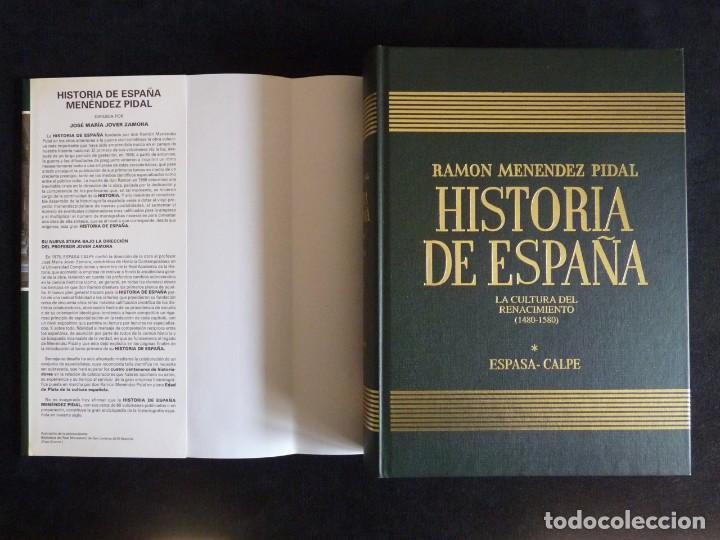 Enciclopedias de segunda mano: HISTORIA DE ESPAÑA R. MENÉNDEZ PIDAL. TOMO XXI. LA CULTURA DEL RENACIMIENTO. ESPASA CALPE. 1999 - Foto 2 - 247043970