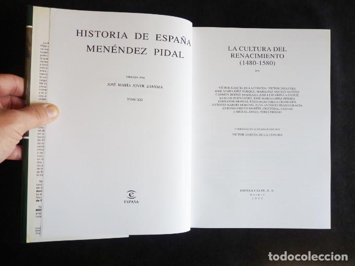 Enciclopedias de segunda mano: HISTORIA DE ESPAÑA R. MENÉNDEZ PIDAL. TOMO XXI. LA CULTURA DEL RENACIMIENTO. ESPASA CALPE. 1999 - Foto 7 - 247043970