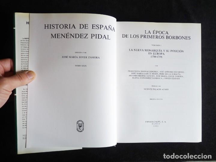 Enciclopedias de segunda mano: HISTORIA DE ESPAÑA R. MENÉNDEZ PIDAL. TOMO XXVIX. 2 VOLUMENES ... PRIMEROS BORBONES. ESPASA CALPE. 1 - Foto 8 - 247047065