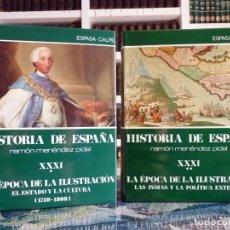Enciclopedias de segunda mano: HISTORIA DE ESPAÑA R. MENÉNDEZ PIDAL. TOMO XXXI. 2 VOLÚMENES. LA ÉPOCA DE LA ILUSTRACIÓN. ESPASA CAL. Lote 247047410