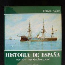 Enciclopedias de segunda mano: HISTORIA DE ESPAÑA R. MENÉNDEZ PIDAL. TOMO XXXIV. LA ERA ISABELINA Y EL SEXENIO... ESPASA CALPE. 199. Lote 247048330