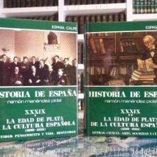 Enciclopedias de segunda mano: HISTORIA DE ESPAÑA R. MENÉNDEZ PIDAL. TOMO XXXIX. 2 VOLUMENES. LA EDAD DE PLATA... ESPASA CALPE. 199. Lote 247049445