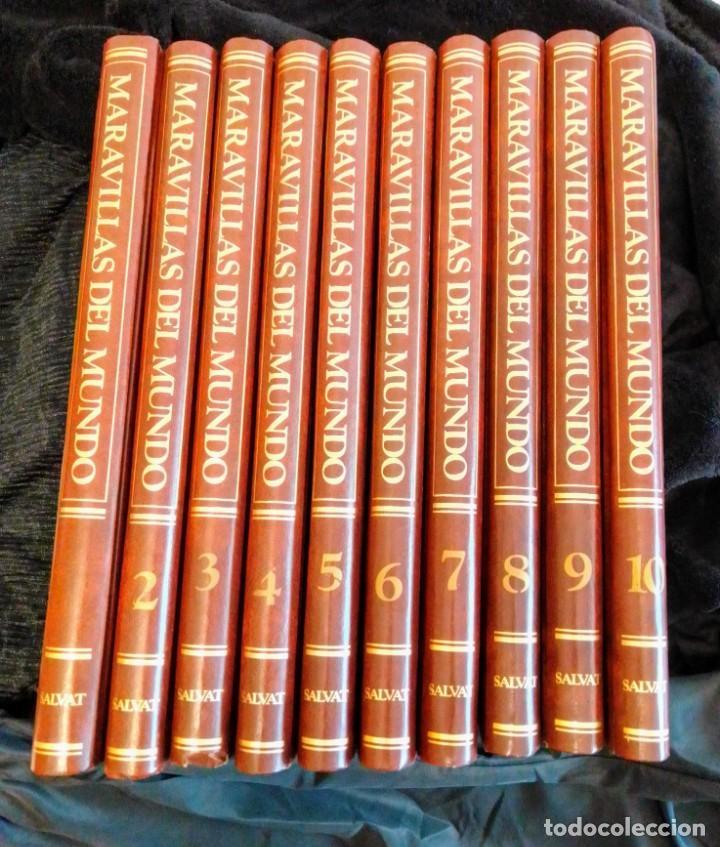 ENCICLOPEDIA MARAVILLAS DEL MUNDO 10 TOMOS DE EDITORIAL SALVAT (Libros de Segunda Mano - Enciclopedias)
