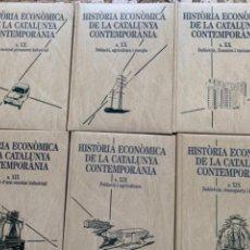 Livres d'occasion: HISTÒRIA ECONÒMICA DE LA CATALUNYA CONTEMPORÀNIA. 6 TOMOS. Lote 253623580