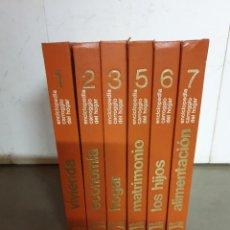 Enciclopedias de segunda mano: ENCICLOPEDIA COMPLETA CON LOS 6 TOMOS , CARROGGIO DEL HOGAR ( BARCELONA ) AÑO 1971. Lote 264269084