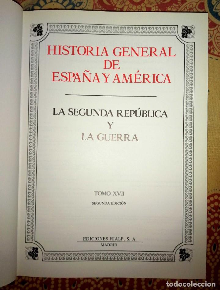 Enciclopedias de segunda mano: Historia general de España y América Tomo XVII La segunda república y la guerra - Foto 3 - 264535964
