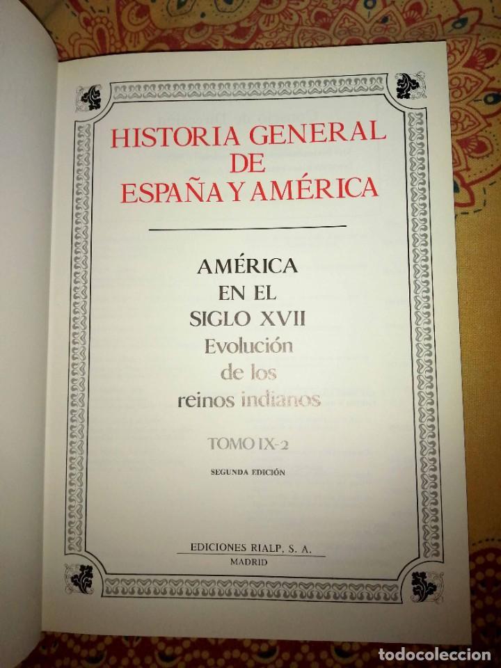 Enciclopedias de segunda mano: Historia general de España y América Tomo IX-2 América en el siglo XVII - Foto 3 - 264542379