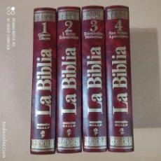 Enciclopedias de segunda mano: LA BIBLIA.MENSAJE VIVO.1ª EDICION EN 4 VOLUMENES.ENCICLOPEDIA COMPLETA.SUSAETA-RIALP.LEER.VER FOTOS.. Lote 266462878